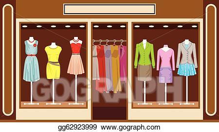Vector stock boutique women. Buy clipart clothes shopping