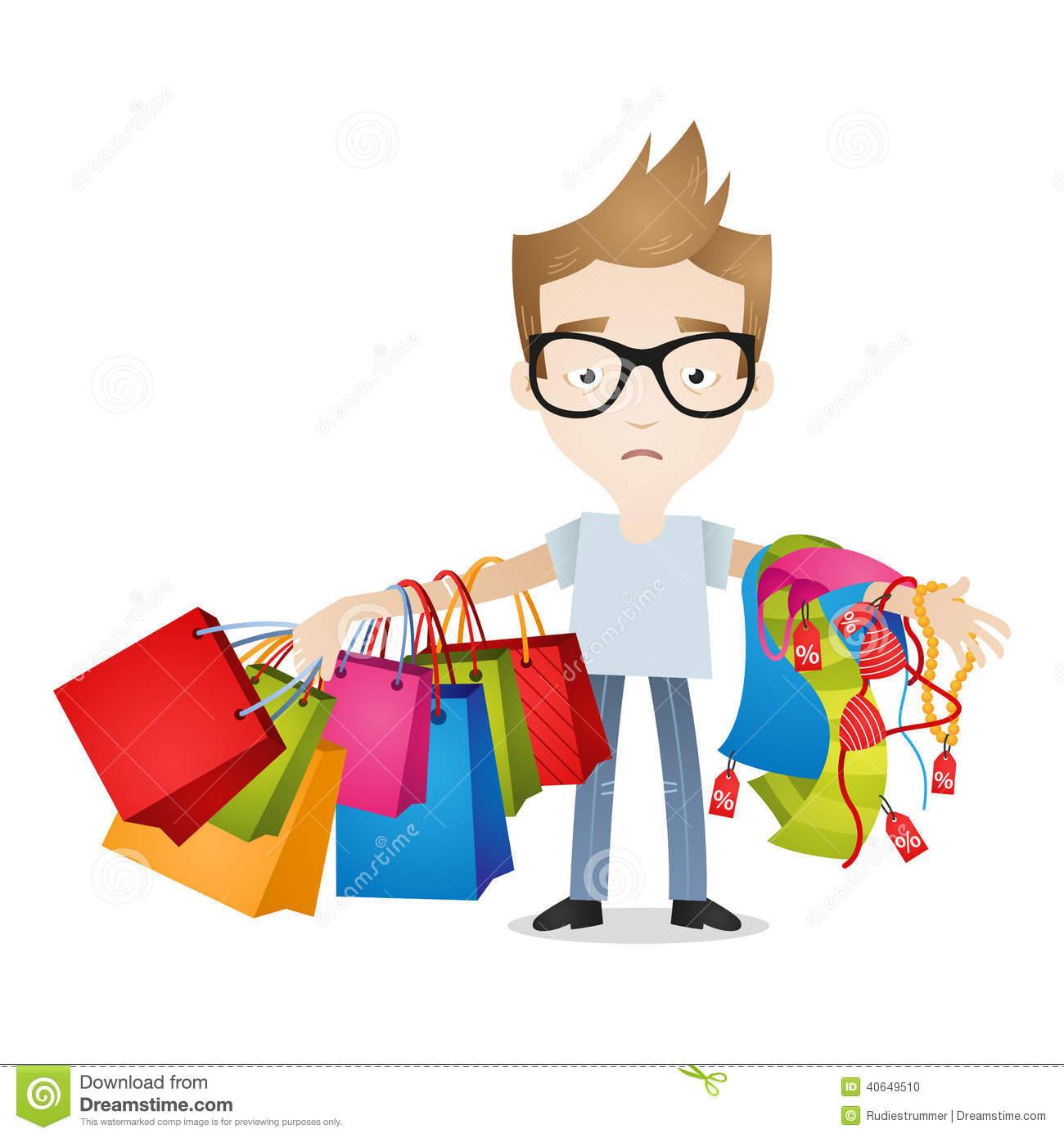 Buy clipart clothes shopping. Men