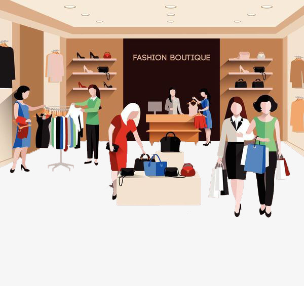 Someone who is and. Buy clipart clothes shopping