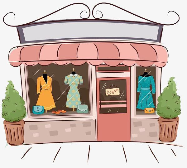 In the shop sell. Buy clipart clothes shopping