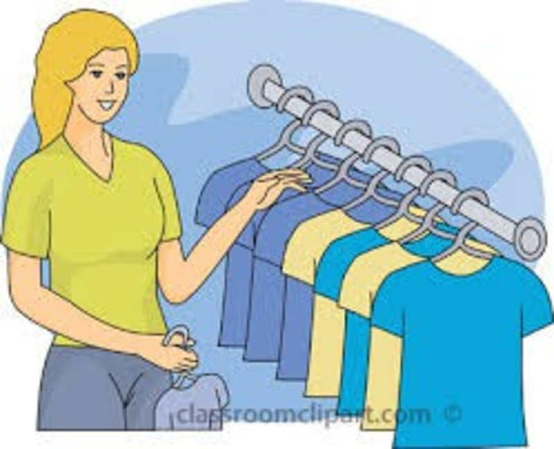 Buy clipart clothes shopping.  collection of high