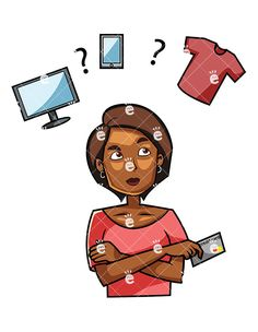 Buy clipart customer buying. A man shopping online