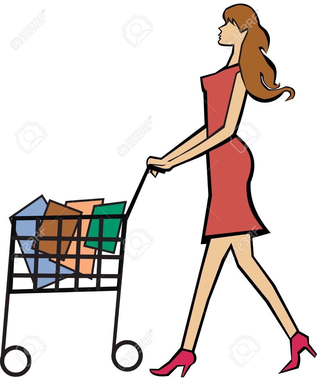 Buy clipart customer shopping. Station