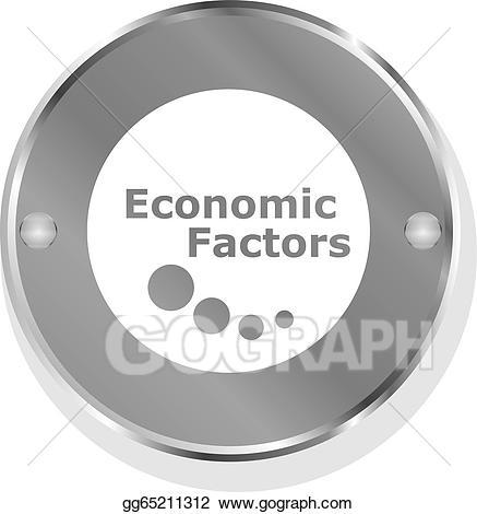 Stock illustration factors metallic. Buy clipart economic factor