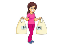 Buy clipart food shopping. Search results for grocery