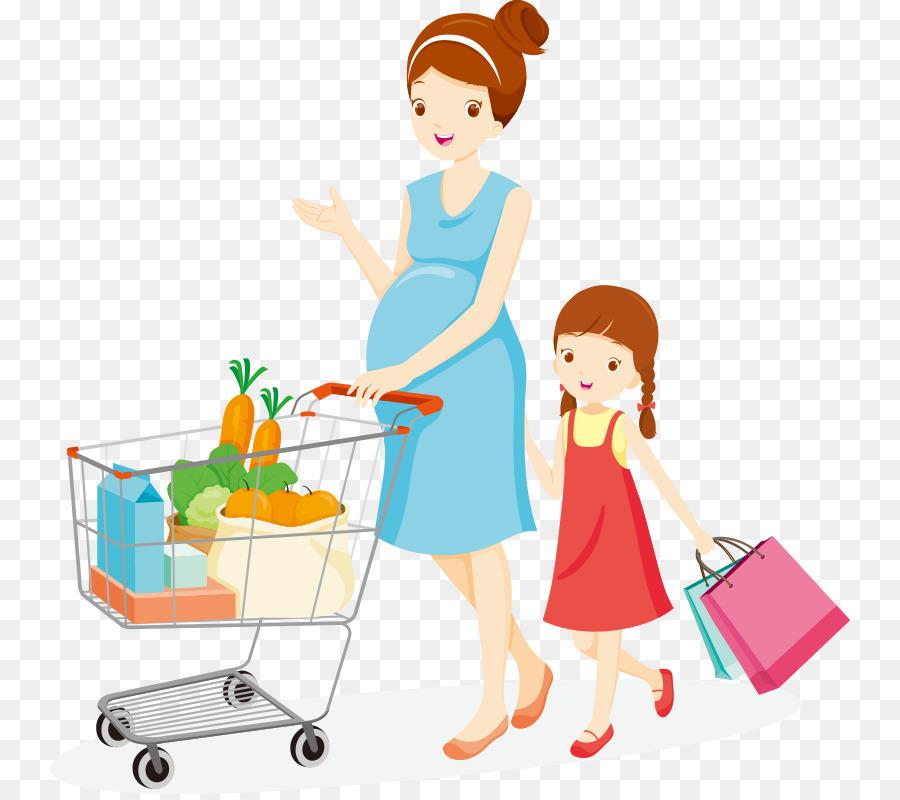 Buy clipart food shopping. Cart mother clip art