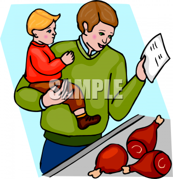 Buy clipart food shopping. Clip art picture of