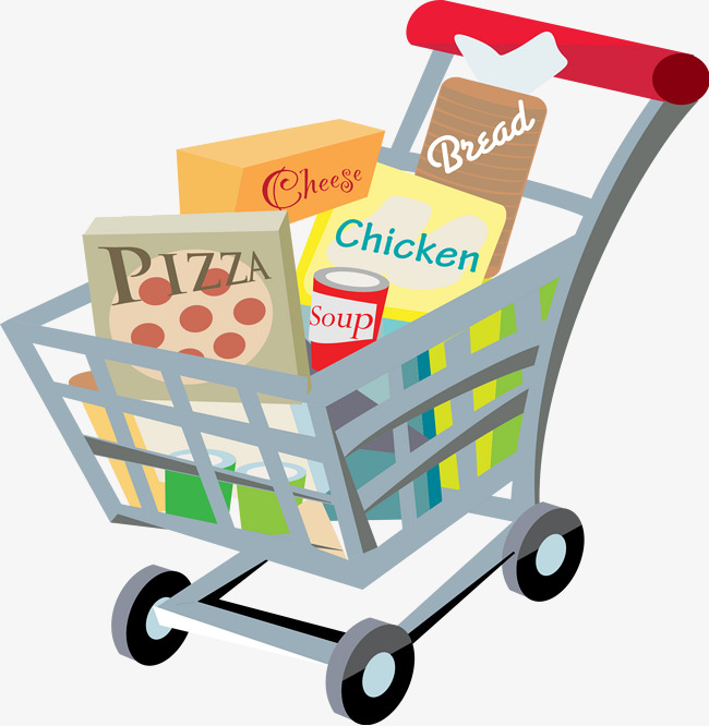 Cart full of png. Buy clipart food shopping