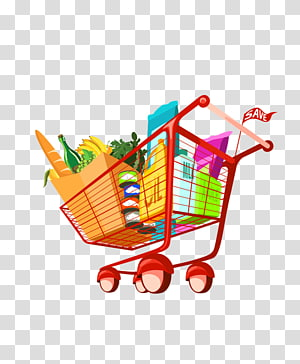 Cart supermarket . Buy clipart food shopping