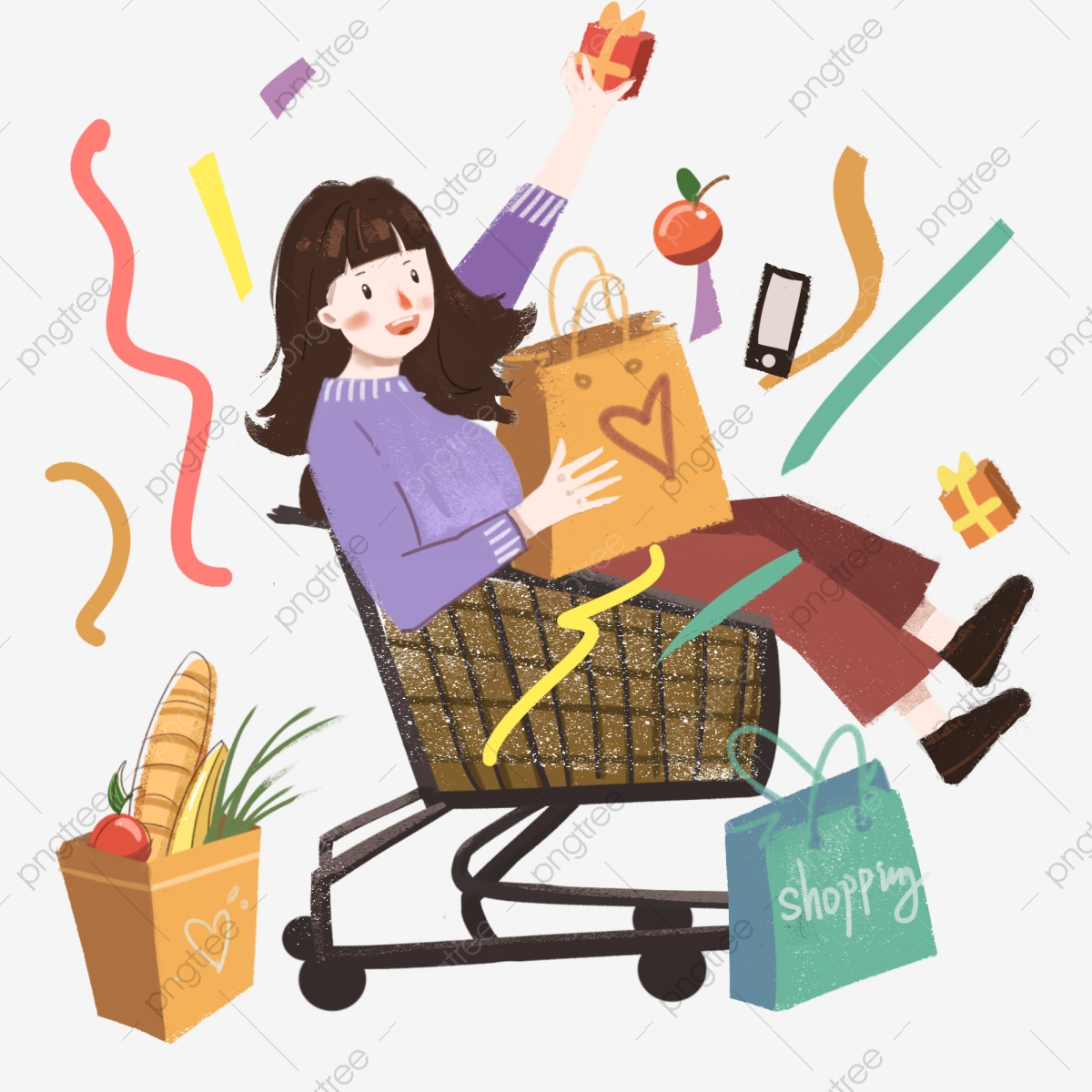 Buy clipart food shopping.  bag consumption celebrate