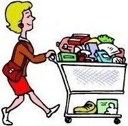 Buy clipart grocery shopping. Tips for women with