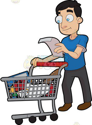 Buy clipart grocery shopping. Station