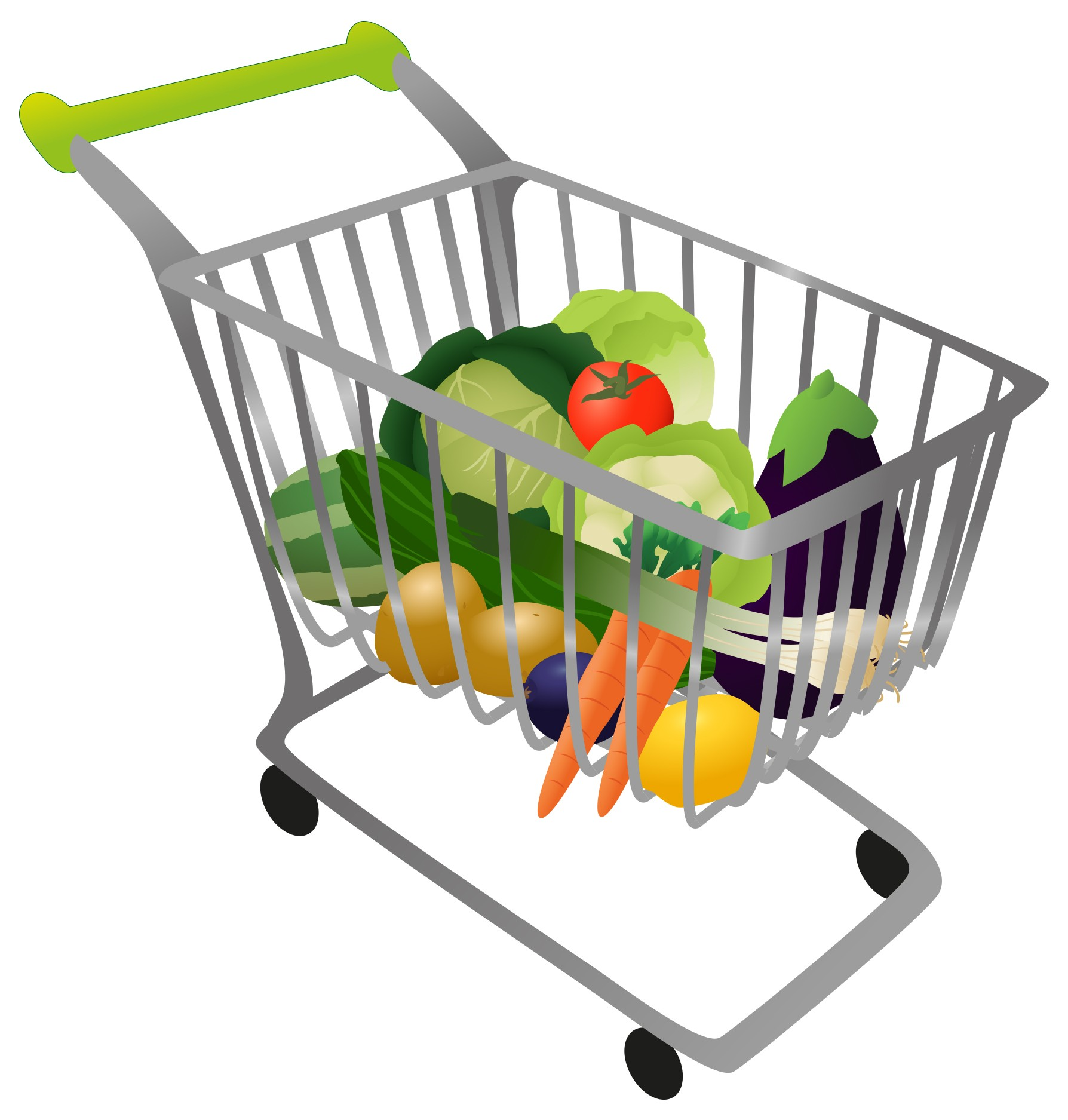 Solutions healthy eating. Buy clipart grocery shopping