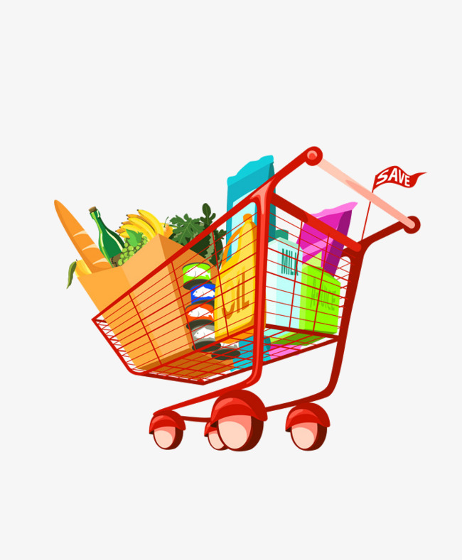 Buy clipart grocery shopping. Cartoon supermarket to food