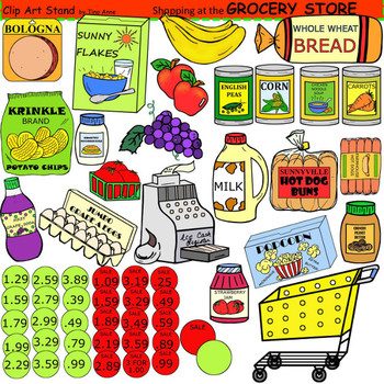 Buy clipart grocery shopping. Clip art store by