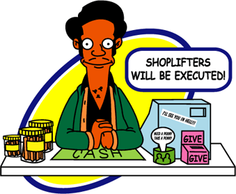 Cashier clipart shop keeper. Asian store owner tv