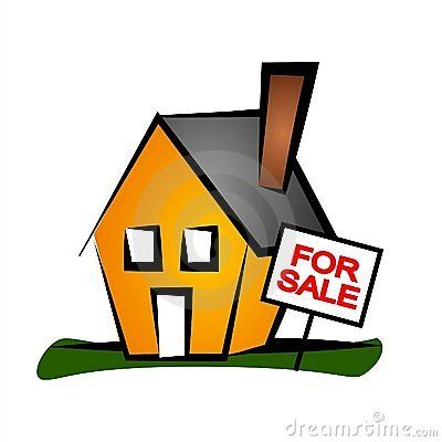 House for sale clip. Clipart home property