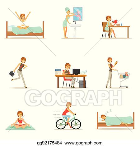 Buy clipart normal person. Vector illustration modern woman