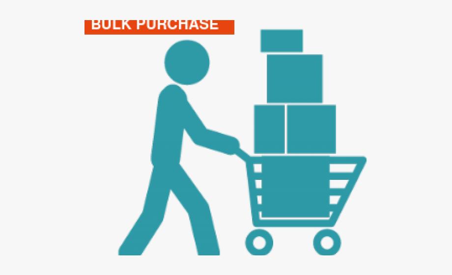 Buy clipart purchase. Bulk person pushing shopping