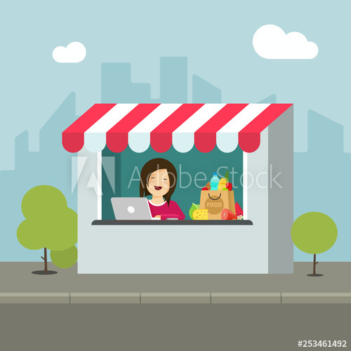 Store vector illustration flat. Buy clipart retail