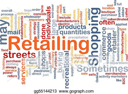 Buy clipart retail. Stock illustration retailing word