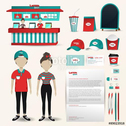 Buy clipart shop counter. Fast food restaurant uniform