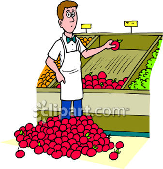 Employee clipart store owner. Grocery cilpart splendid design