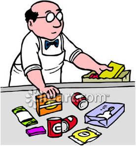 Grocery Cashier Clipart