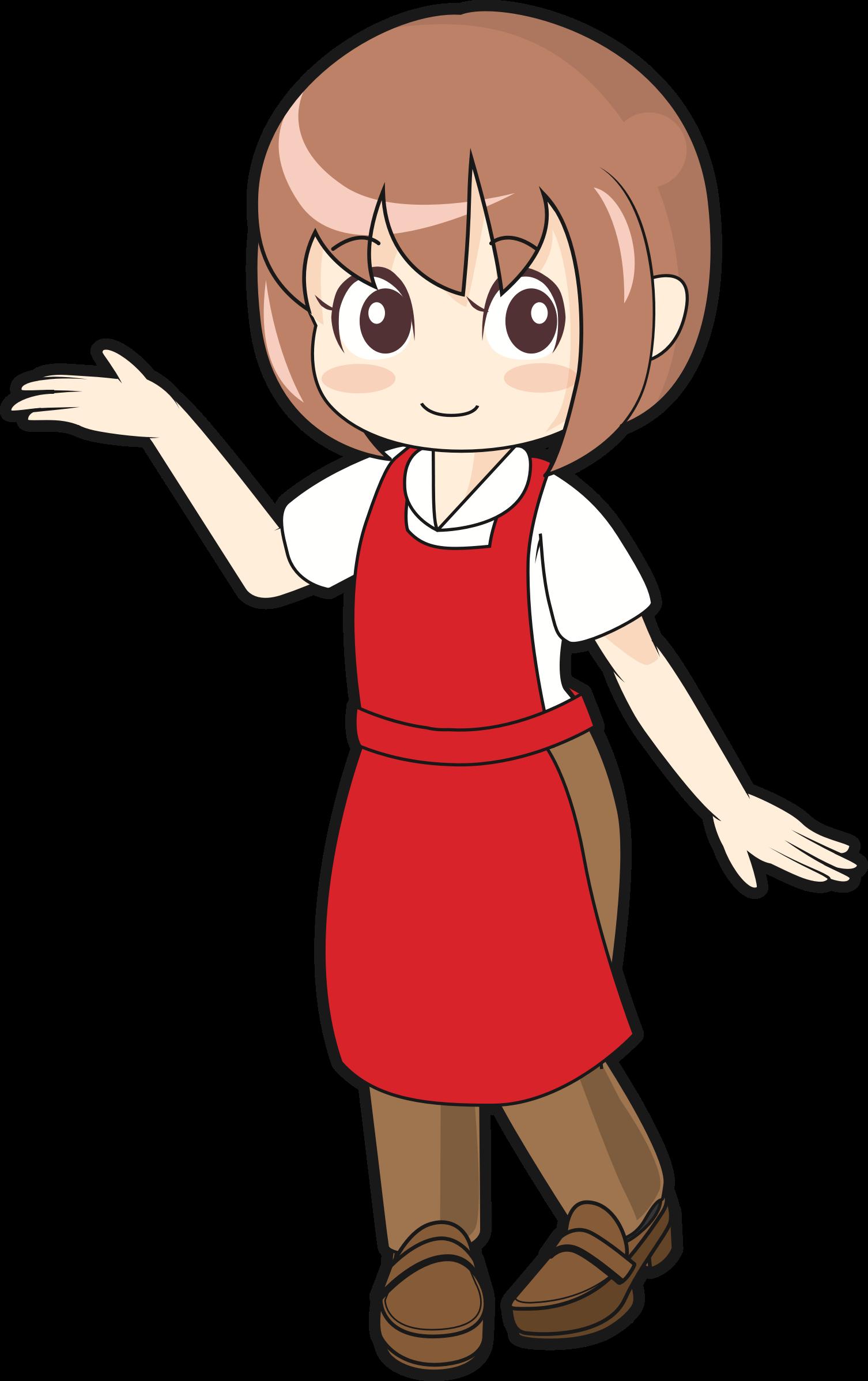 Waitress clipart happy. Female store clerk big