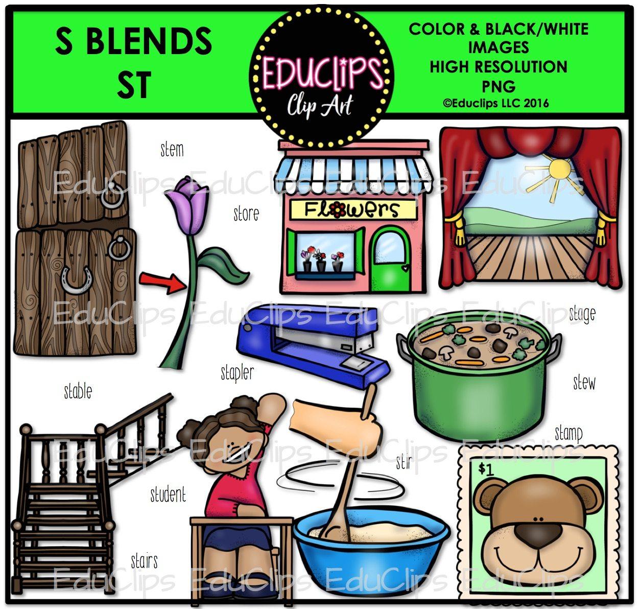 Buy clipart student store. S blends clip art