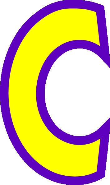 Letter clip art vector. C clipart