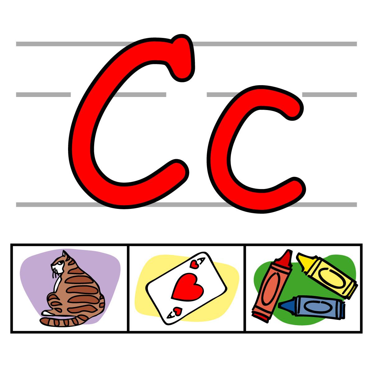 C clipart alphabet.