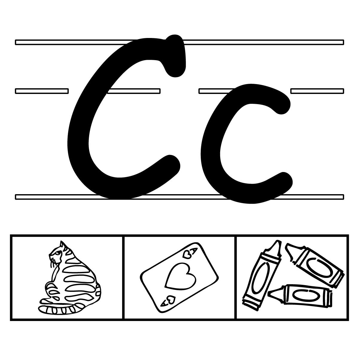 C clipart alphabet. Clip art set panda