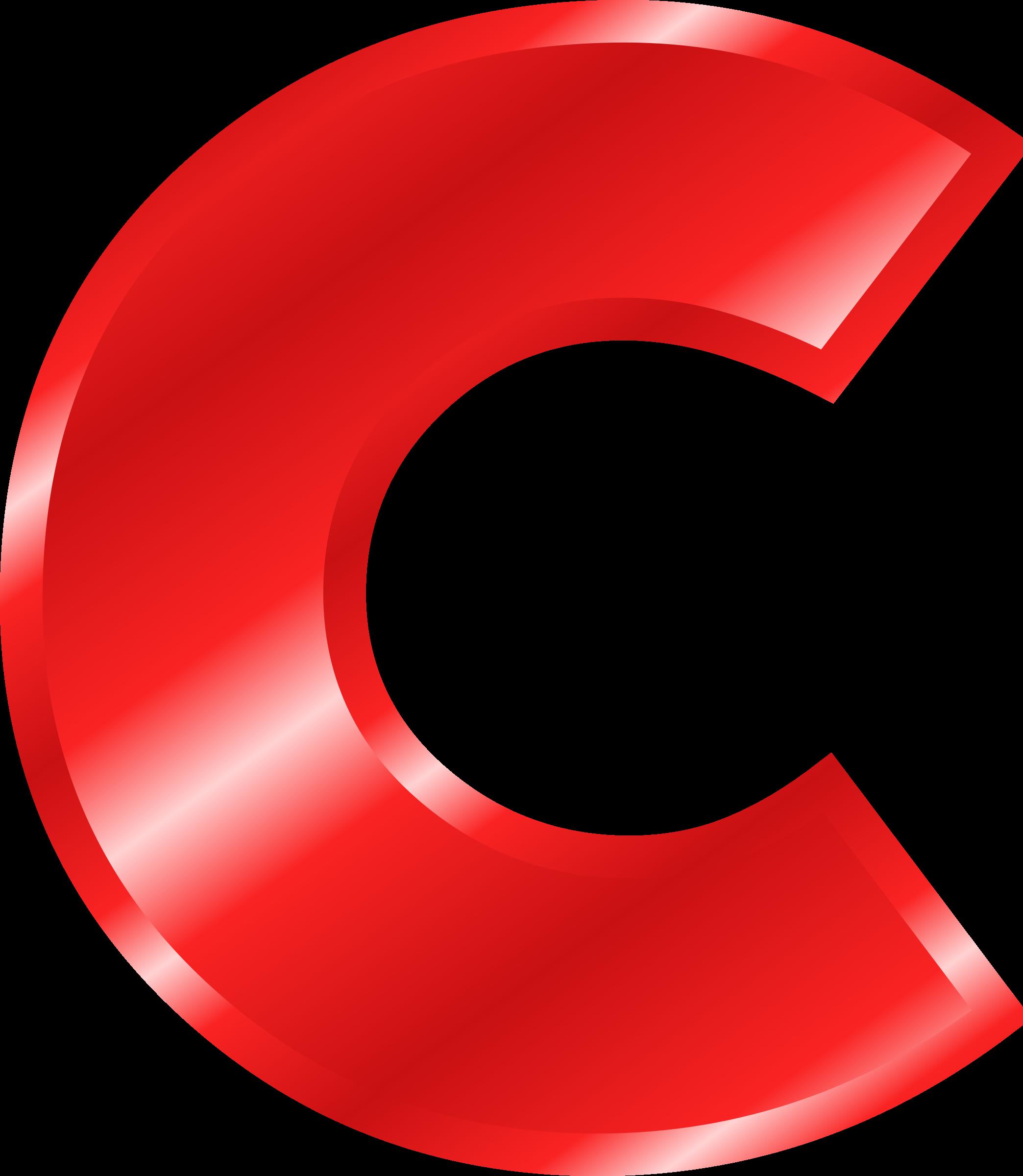 Effect letters red big. C clipart alphabet