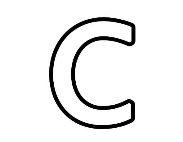 C clipart alphabet.  collection of letter