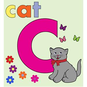 C clipart alphabet. Cat letter cliparts of