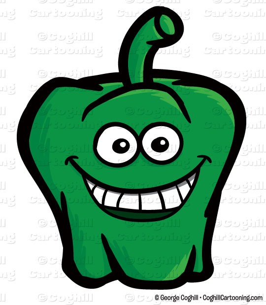 Peppers clipart cartoon. Green pepper clip art