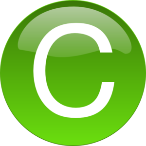 C clipart clip art. Green at clker com