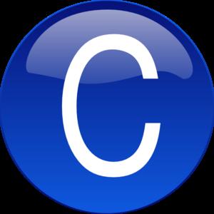 C clipart clip art. Blue at clker com