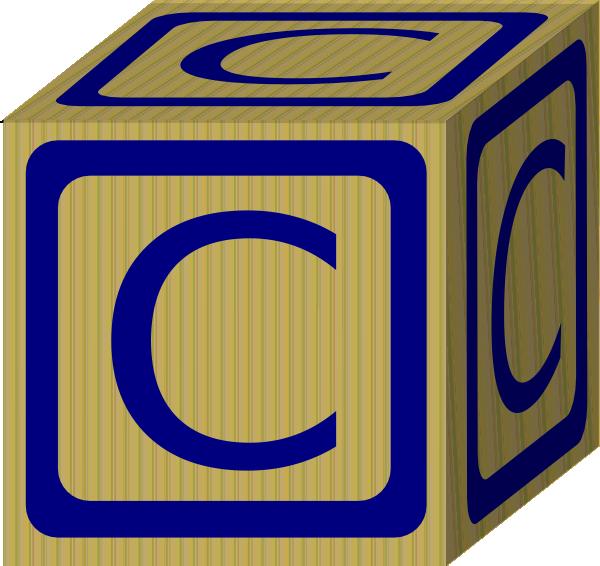 C clipart clip art. Alphabet block at clker