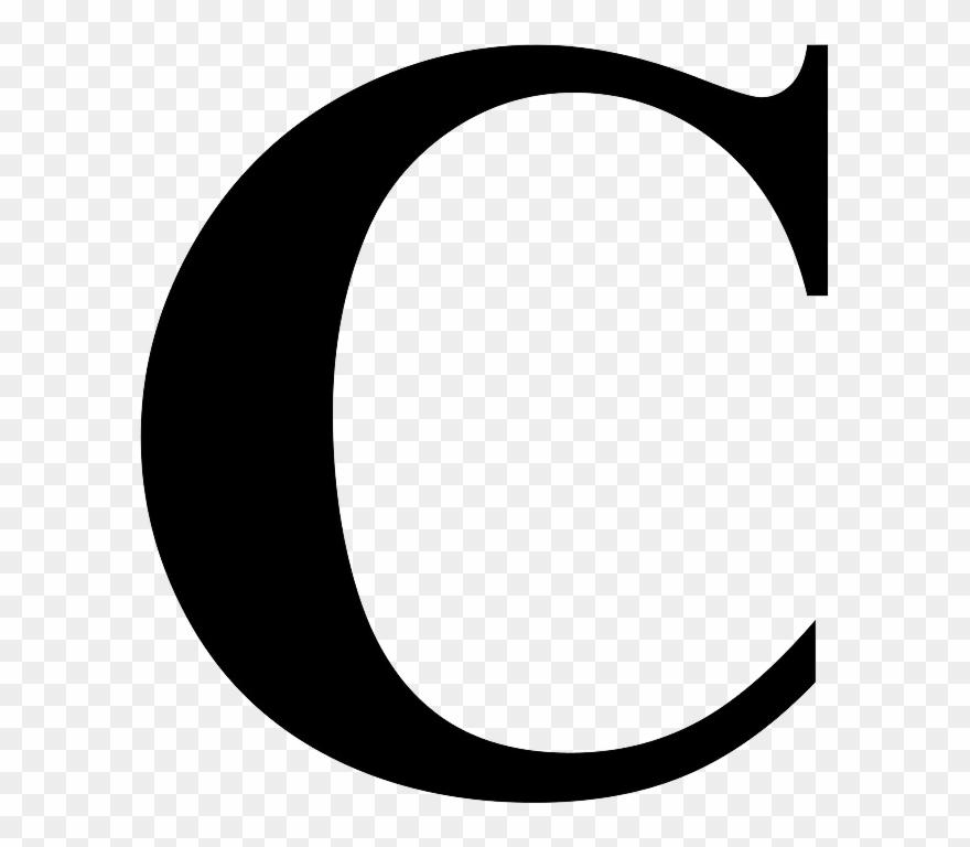 C clipart letter. Transparent background
