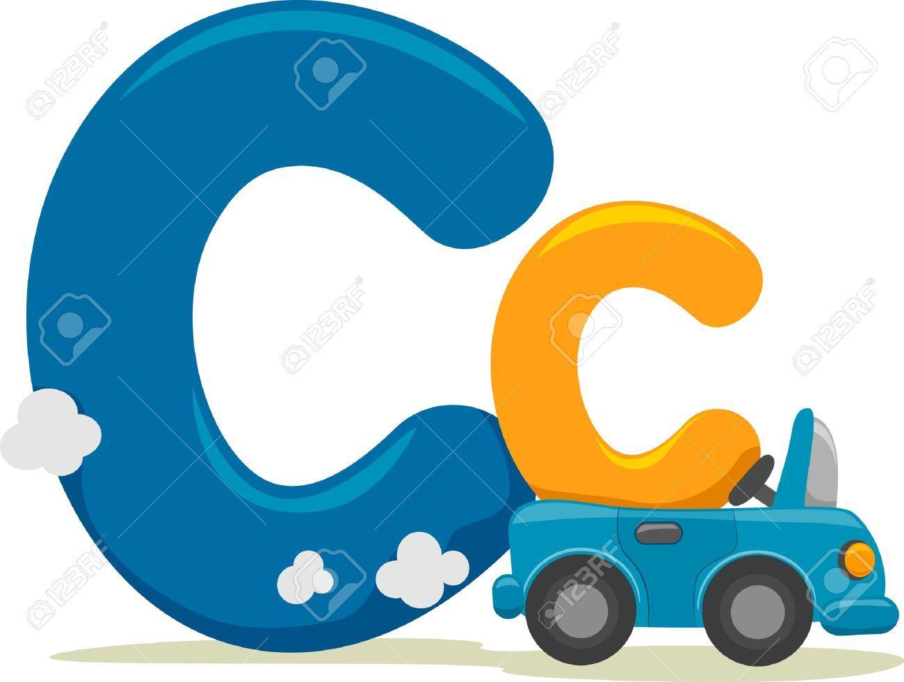 C clipart letter. Free clip class border
