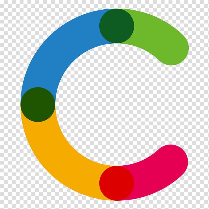 Letter logo color letters. C clipart png
