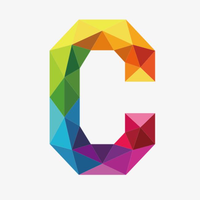 Colorful letters letter image. C clipart png
