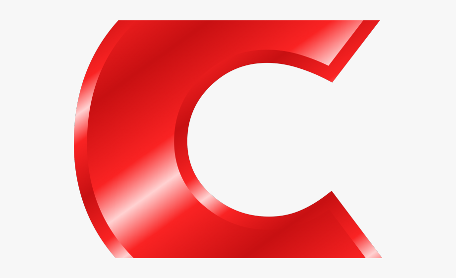 C clipart png. Capital letter red free