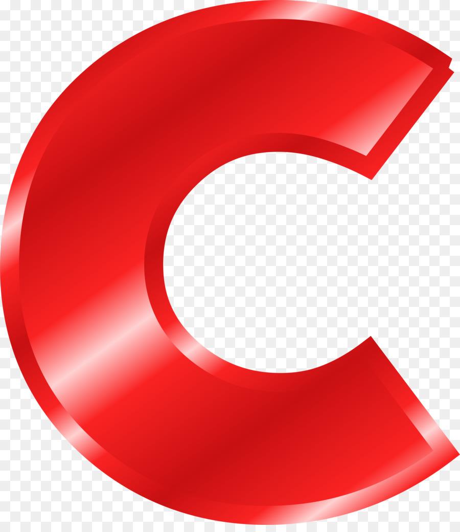 C clipart red. Letter alphabet transparent clip