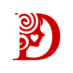 C clipart red. Heart alphabet d with