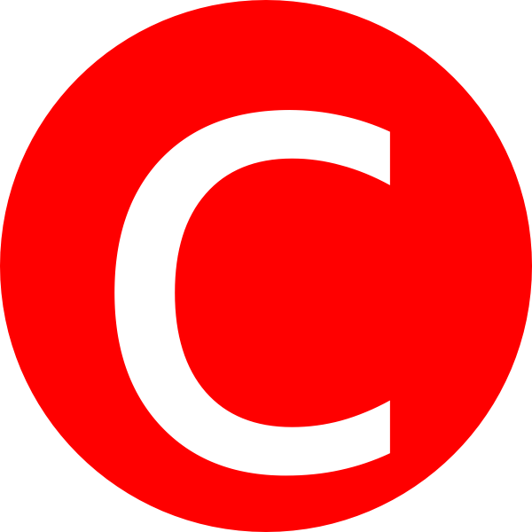 Rounded with clip art. C clipart red