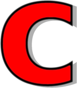 C clipart red. Lowercase signs symbol alphabets