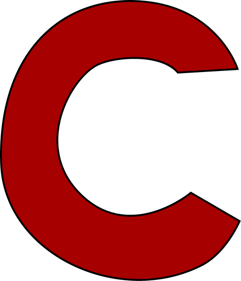 Letter the best sample. C clipart red